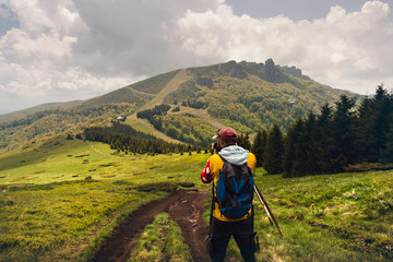 Photographer shooting amazing landscape.