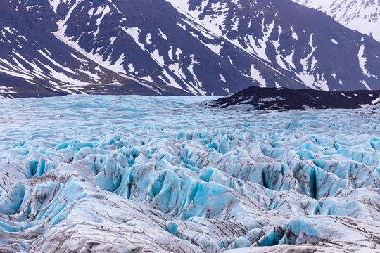Vatnajokull Glacier national park in iceland.