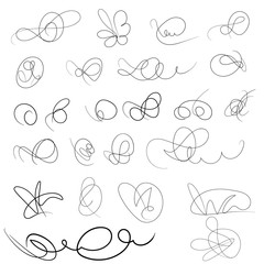 Decorative hand drawn monograms. Template signage, logos, labels, stickers, cards. Classic design elements for wedding invitations.
