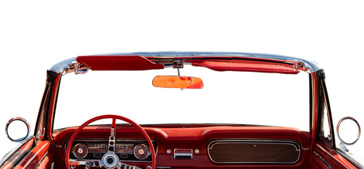 Printed roller blinds Vintage cars classic convertible interior
