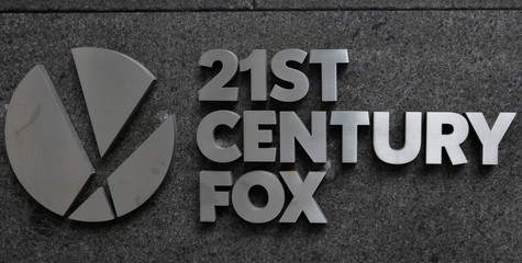 The 21st Century Fox logo is seen outside the News Corporation building in Manhattan