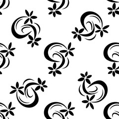 Geometric seamless pattern. Flower