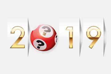 2019 - loto - chance - vœux - casino - jackpot - riche - bonheur - loterie - gagner de l'argent
