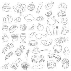 graphic food, vector