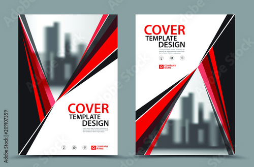 red cover template vector book cover design template in a4