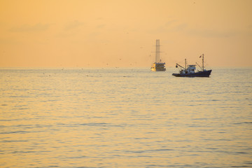 Fishing ship in the Black Sea
