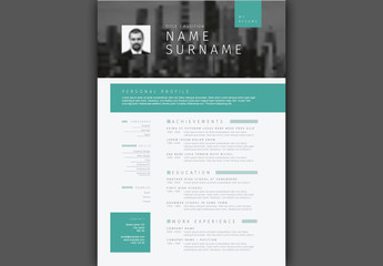 Teal Resume Layout