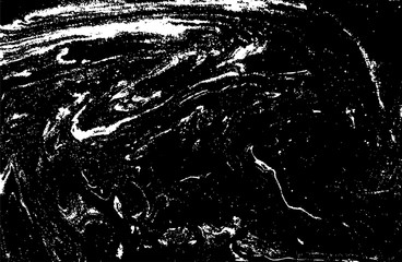 Black and white liquid texture. Hand drawn marbling illustration. Abstract vector background. Monochrome marble pattern.