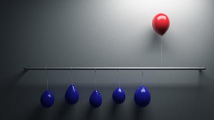Luftballon sticht aus der Masse heraus