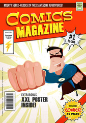Comic Book Cover Template/