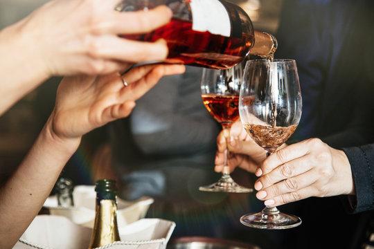Women Friendship Party Celebration Drinks Cheers