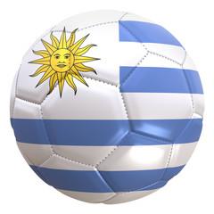Uruguay flag on a football ball