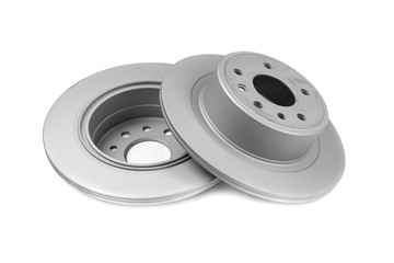 Set of brake discs. Isolate on white background