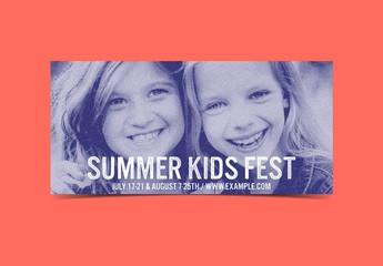Halftone Effect Children's Event Flyer Layout