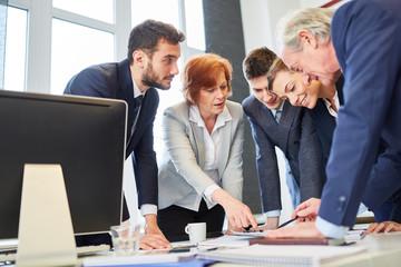 Team und Berater bei der Strategie Planung