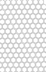 Honeycomb seamless pattern. Black and white