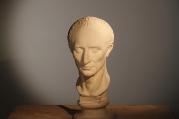 Caesar's plaster head in studio of Moscow, Russia, October 8, 2014