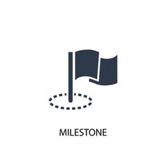 Milestone icon. Simple element illustration