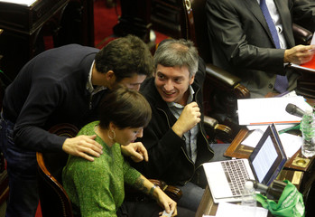 Lawmakers debate an abortion bill at the Argentine Congress in Buenos Aires