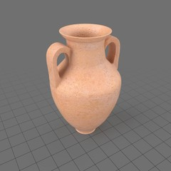 Amphora vase with handles