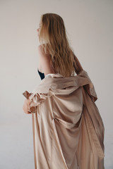 Fashion portrait of blonde woman
