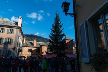 Mercatino di Natale di Santa Maria Maggiore, Valle Vigezzo, VCO, Verbania, Piemonte, Italia