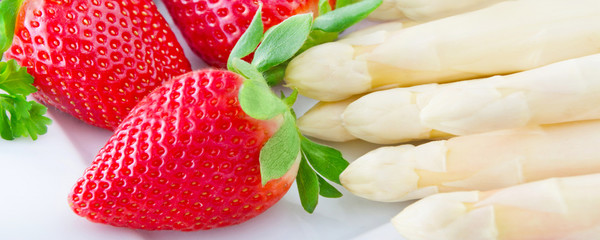 Asparagus and strawberries
