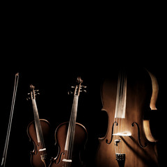 String instruments violin and cello