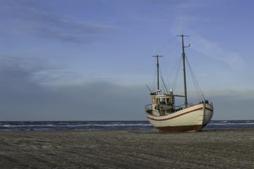 Boot im Hafen, Dänemark