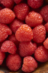 Raspberries in Closeup