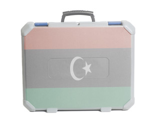 Business travel suitcase with Flag of Libya
