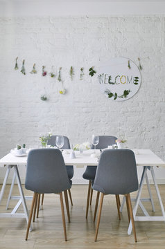 Decorated Dining Room