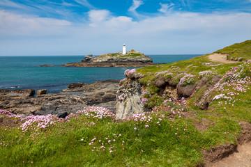 Fototapete - Godrevy Cornwall England UK