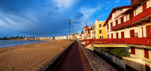St Jean de Luz, sea side sand beach, France