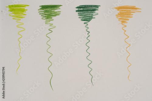 Buntstifte   Verschiedene Farben   Grün Und Beige