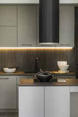 Modern kitchen in contemporary interior