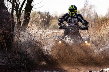 ATV Rider in the mud