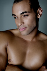 Model Strong Stylish Male Portrait