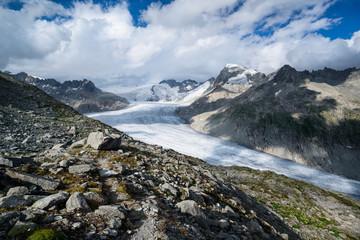 Trail to Furka glacier