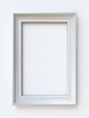 White picture frame rectangular 3D rendering illustration