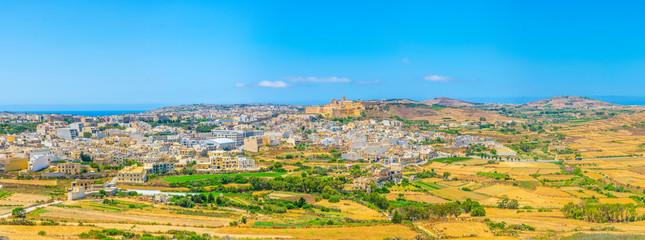 Aerial view of Il-Kastell citadel in Victoria, Gozo, Malta