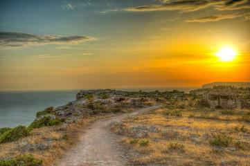 Papiers peints Cote Sunset view over Ta Cenc cliffs on Gozo, Malta