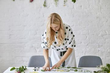 Florist Preparing Decoration