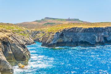 Fototapete - Wied il-Ghasri bay at gozo, Malta