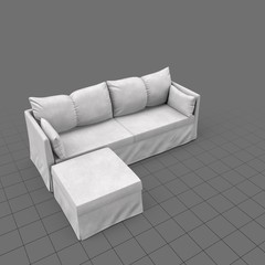 Scandinavian corner sofa