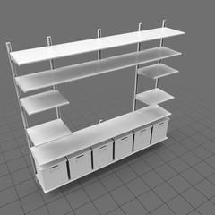 Scandinavian shelving system