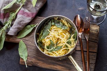 Sage spaghetti