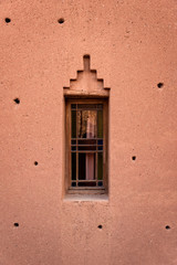 Ornamental window in a berber house, Morocco