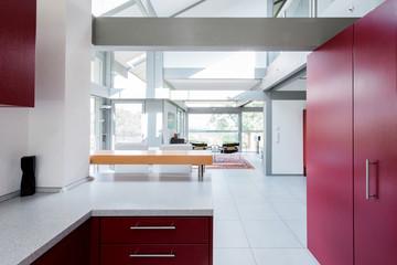 Modern Kitchen red foreground