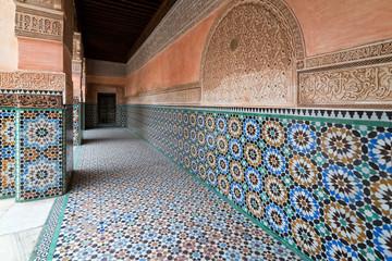 Courtyard of Ben Youssef Medersa in Marrakech